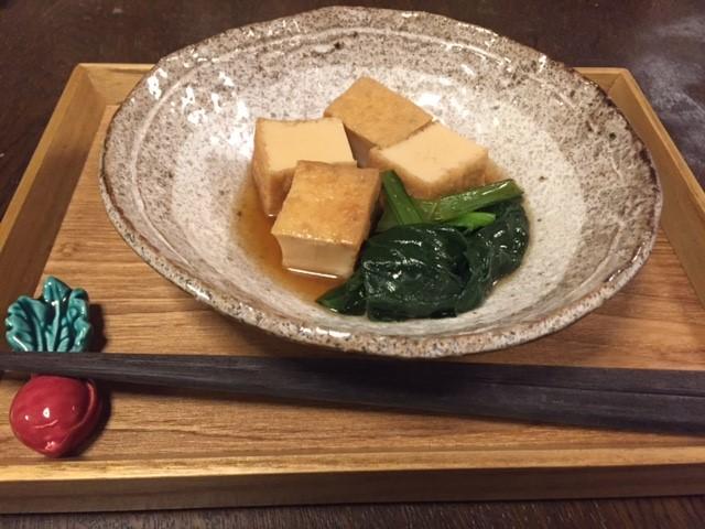 小松菜と厚揚げの煮びたしIMG_0496